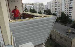 Как утеплить балкон снаружи