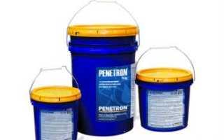 Пенетрон: что это, характеристики и инструкция по применению