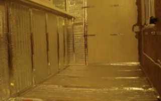 Утепление балкона изнутри пенополистиролом и минватой