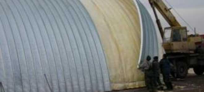 Утепление металлических ангара и складов эковатой и минватой
