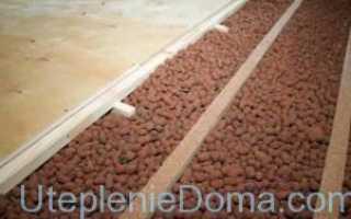 Утепление потолка керамзитом в частном деревянном доме