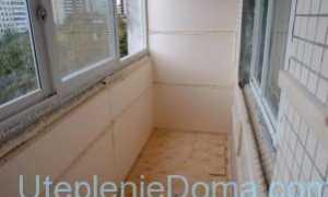 Утепление балкона изнутри своими руками пенопластом и минватой (технология и порядок выполнения работ)