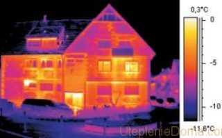 Фото обследований тепловизором деревянного частного дома