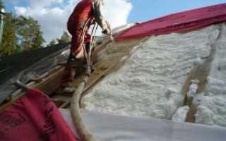 Утепление крыши пенополиуретаном, его преимущества