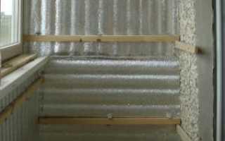 Утепление стен балкона изнутри пенопластом