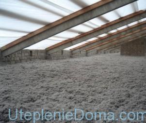 Утепление бетонного чердака