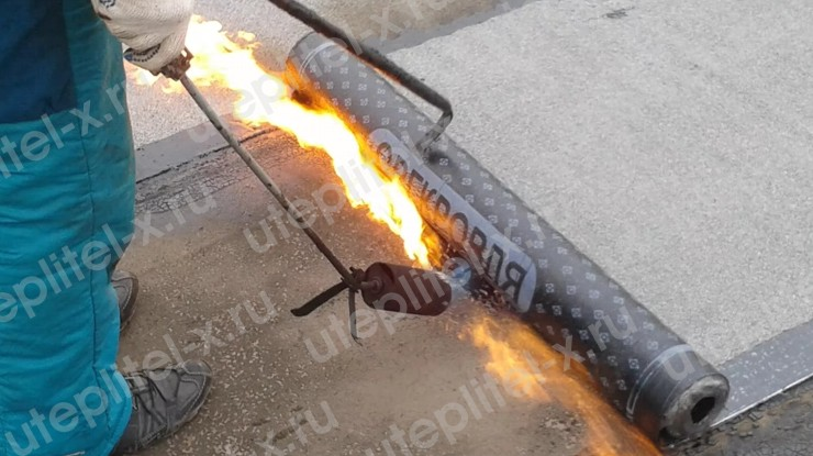 Гидроизоляция бетонной кровли гаража рубероидом