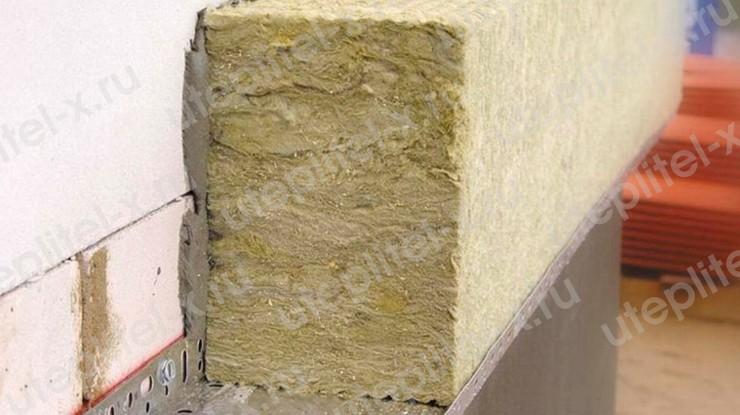Утепление стены из пеноблоков снаружи минватой