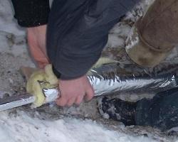 Укладка утепленного водопровода