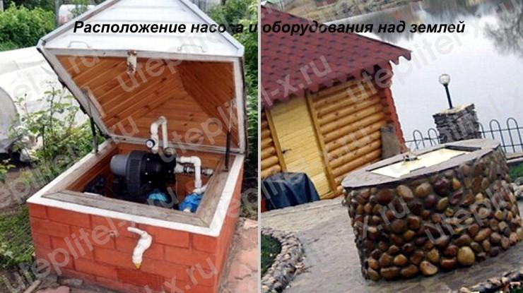 Декоративный домик с кессоном под скважину