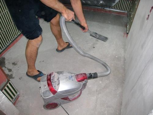 пропылесосить бетонный пол