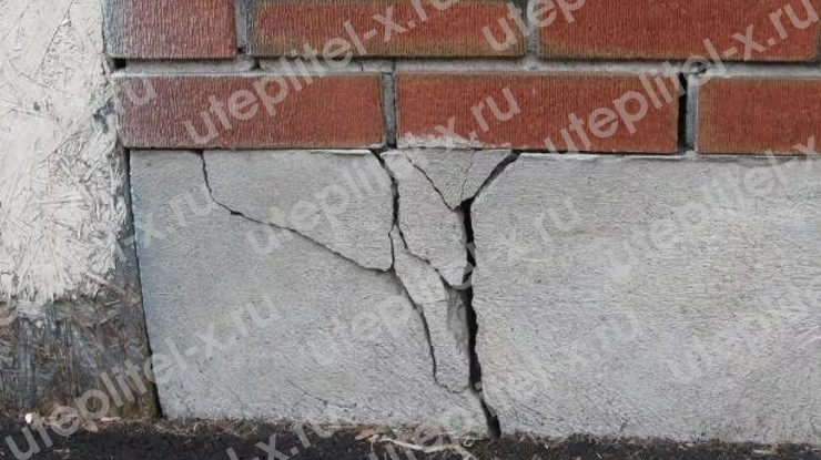 Фото. Последствия морозного пучения грунта