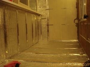 тепление балкона изнутри