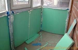 Утепление балкона пенопластом изнутри