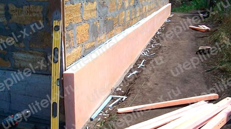 Фото. Утепление цоколя дома пеноплексом своими руками