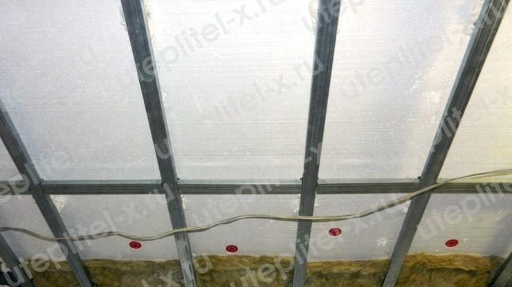 Фото. Утепление крыши гаража пенопластом изнутри