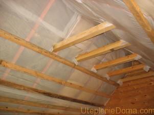 Утепление крыши изнутри мансарды