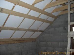 утепление крыши пенопластом