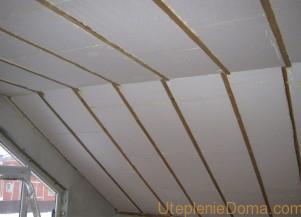 Утепление скатной крыши изнутри