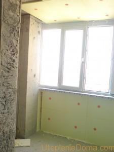 Утепление стен балкона изнутри