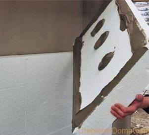 Утепление стен снаружи пенопластом