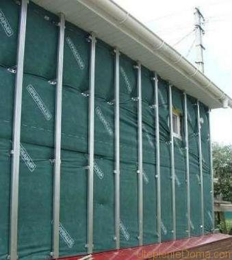 Технология монтажа вентилируемого фасада деревянного дома